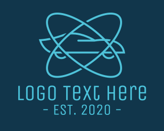 Atomic - Atomic Blue Car logo design