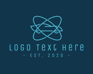 Atom - Atomic Blue Car logo design
