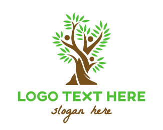 People - Tree Fern People logo design