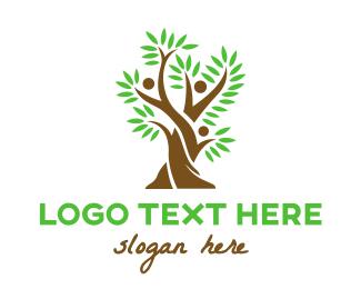 Crowdsource - Tree Fern People logo design
