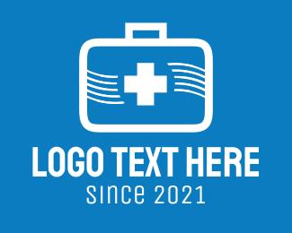 Medical Supplies - White Medical Kit logo design