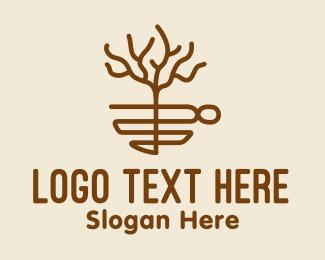 Seasonal - Tree Cafe Monoline  logo design