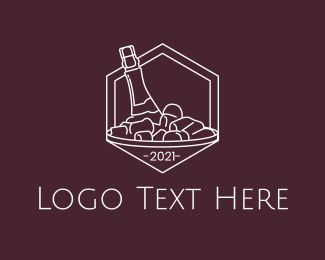 Ice - Wine Ice Bucket logo design