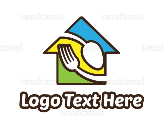 Canteen - Colorful Food House logo design