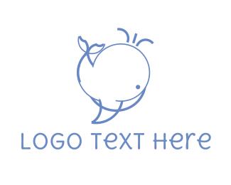 Swim - Cute Whale logo design
