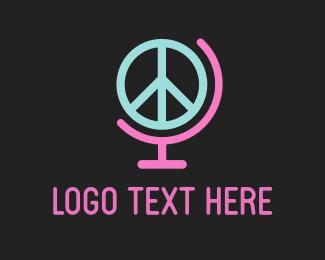 Hippie - World Peace logo design