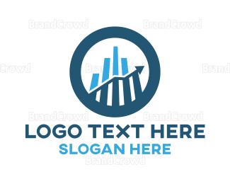 Accountant - Business Growth Chart logo design