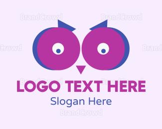 Watching - Owl Eyes logo design