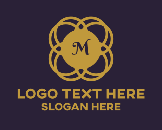 Ornamental - Golden Ornamental Lettermark logo design