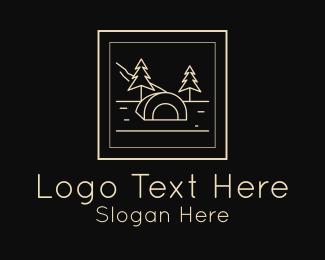 Frame - Outdoor Camp Frame logo design