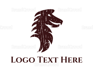 Dinosaur - Brown Dragon logo design