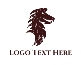 Emblem - Brown Dragon logo design