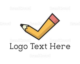 Complete - Pencil Tick logo design
