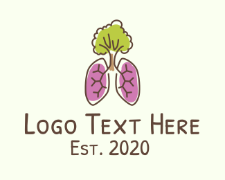 Bronchi - Eco-Friendly Tree Lungs logo design