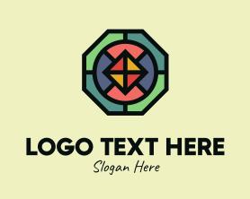 Octagon Polygon Mosaic Logo