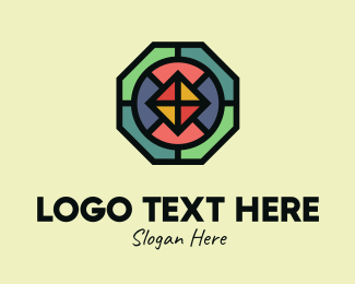 Octagon - Octagon Polygon Mosaic logo design