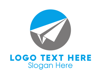 Delivery - Paper Airplane logo design