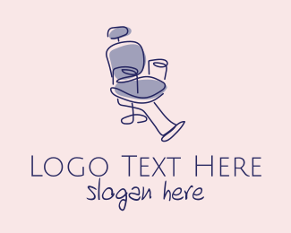 Dental - Minimalist Barber Chair  logo design