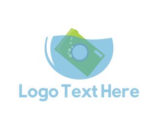 Underwater - Water Camera logo design