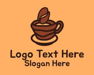 Arabica - Coffee Bean Cup logo design
