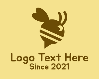 Bee Speech Bubble Logo