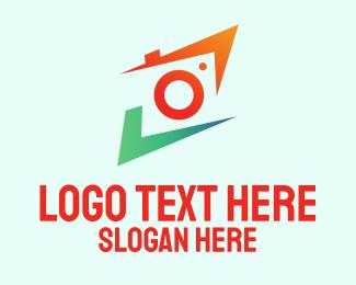 Photography - Colorful Photography Camera Lens  logo design