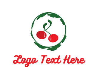 Green And Red - Red Cherry logo design