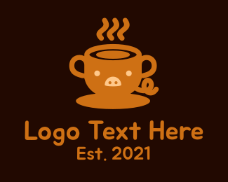 Food - Pig Cup Cafe logo design