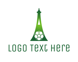 Green Soccer Tower Logo