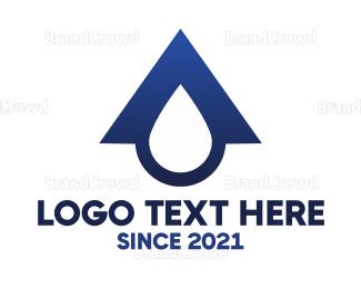 Roof - Blue Roof Drop logo design