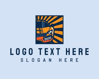 Driving - Modern Sports Car logo design