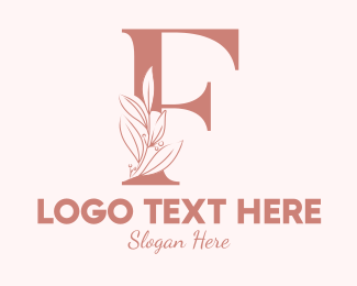"""Elegant Leaves Letter F"" by brandcrowd"