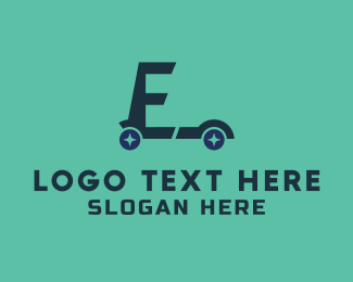 Scooter - E Scooter logo design