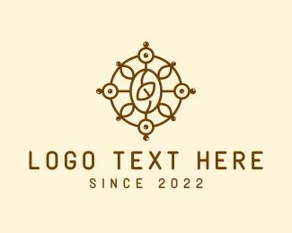 Detailed - Coffee Pattern Cafe logo design