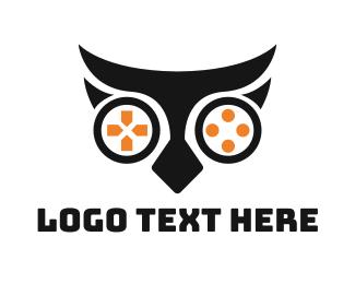 Nocturnal - Owl Game logo design