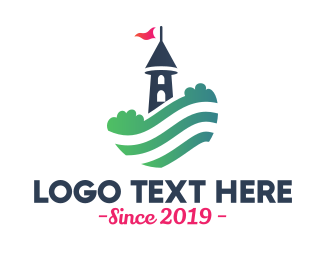 Hiking - Lookout Tower Hill  logo design