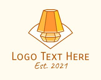 Line Art - Room Light Line Art logo design