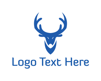 Reindeer - Blue Reindeer logo design