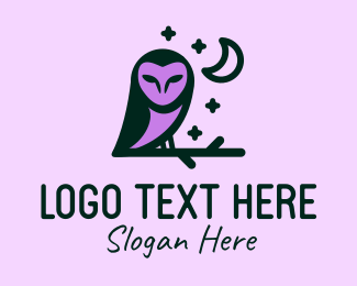 Forest Animal - Night Owl logo design