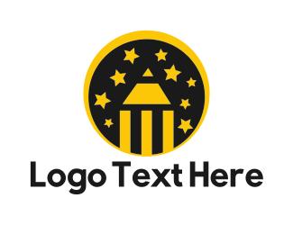 Designs - Pencil & Stars logo design