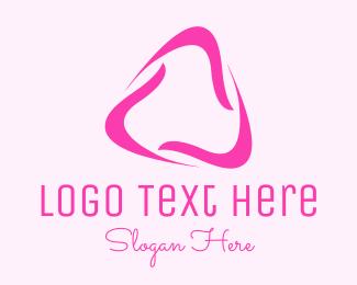 Triangular - Black Wavy Triangle logo design