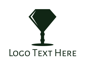 Lamp - Diamond Lamp logo design
