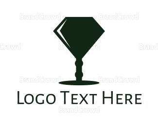 Winery - Diamond Lamp logo design