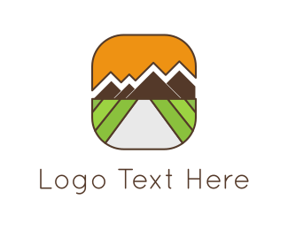 Farmers - Mountains Landscape logo design