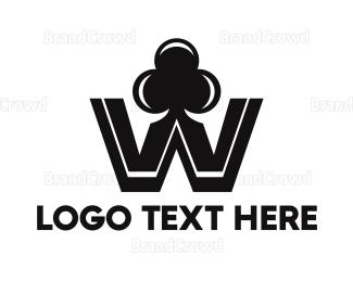 Card Game - Black W Club logo design