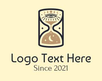 Hourglass - Cosmic Eye Hourglass logo design