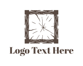 Lumber - Wood Square logo design