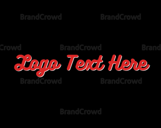 Red And White - Red & White Font logo design