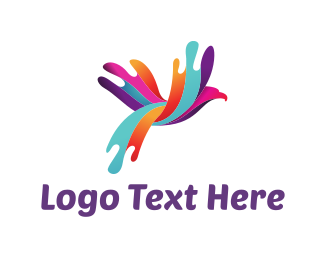 Unique - Colorful Bird logo design