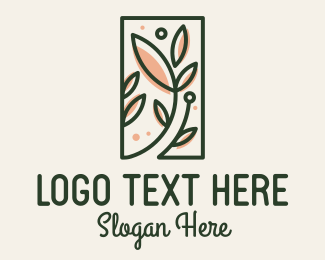 Nutrition - Organic Leaves Spa Frame logo design
